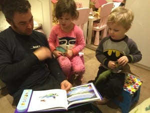 Daddy reading bedtime stories