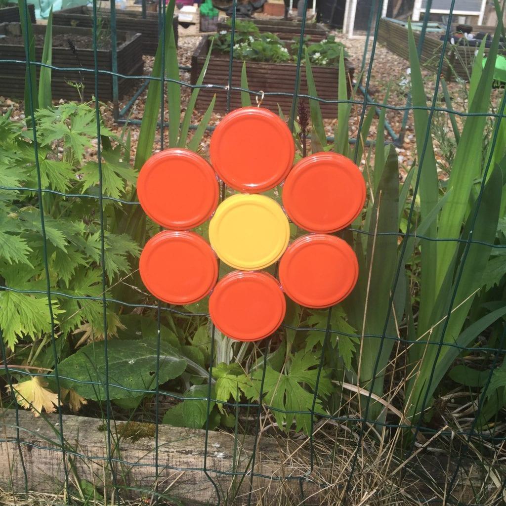 Jam Jar Lid Flower