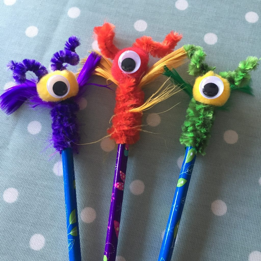 Really Simple Monster pencil toppers