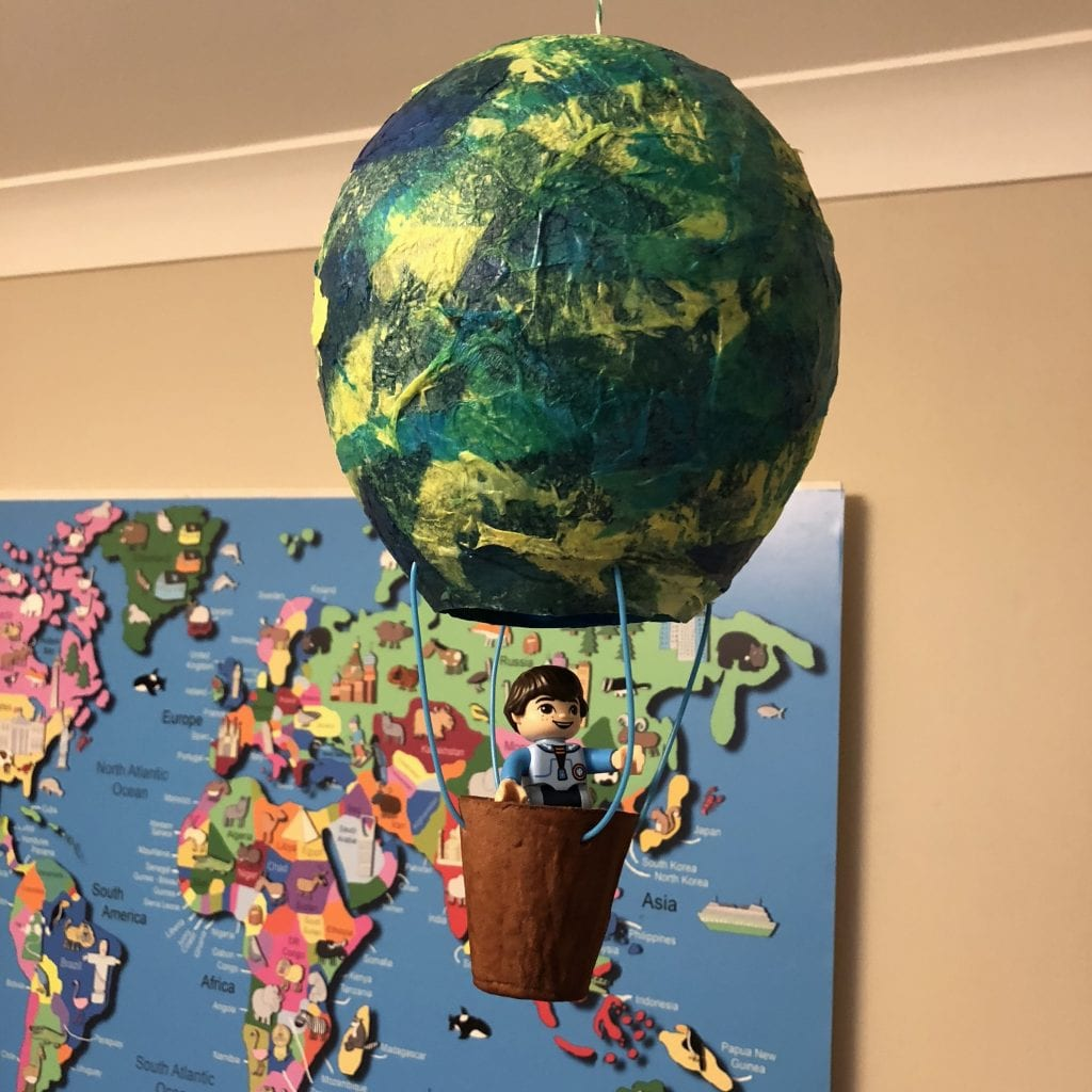 Paper Mache Hot Air Balloon