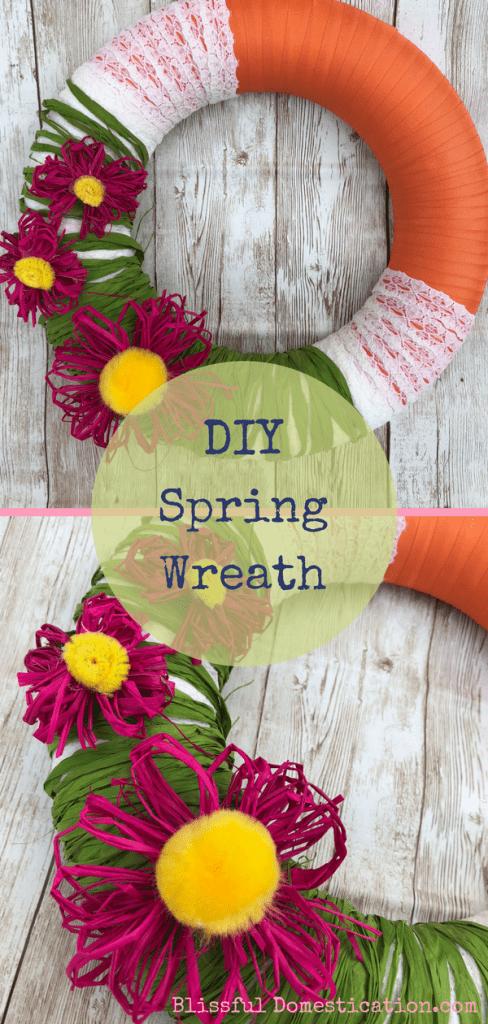 DIY Spring Wreath Pin