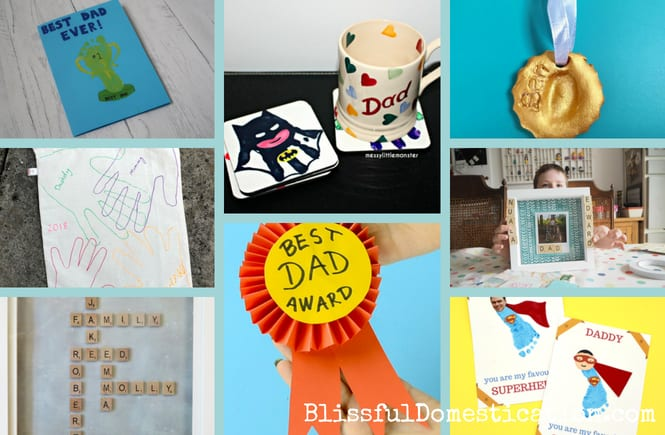 A round up of Homemade Father's Day Cards and Gifts