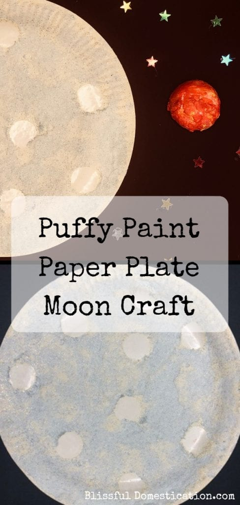 Puffy paint moon craft pin