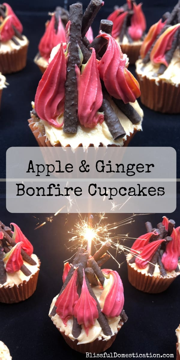 Apple and Ginger Bonfire Cupcakes