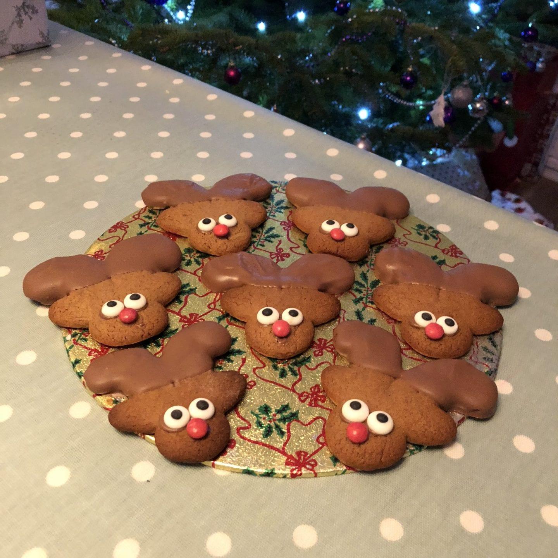 Reindeer Gingerbread Men Cookies