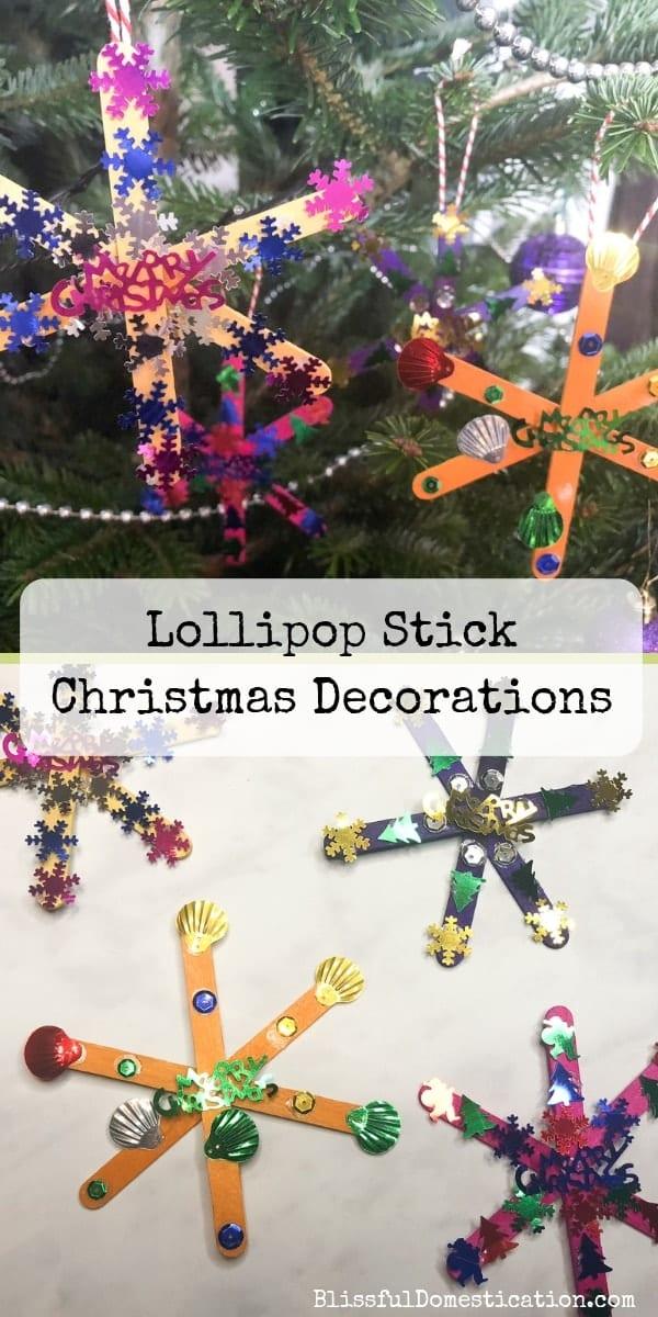 Lollipop Stick Christmas Decorations Pin