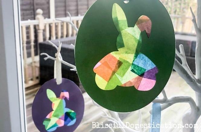 Easter Bunny Suncatchers