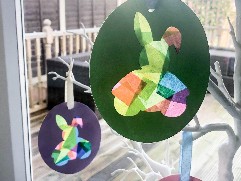 Easter Bunny Suncatchers- 2 hanging in the window