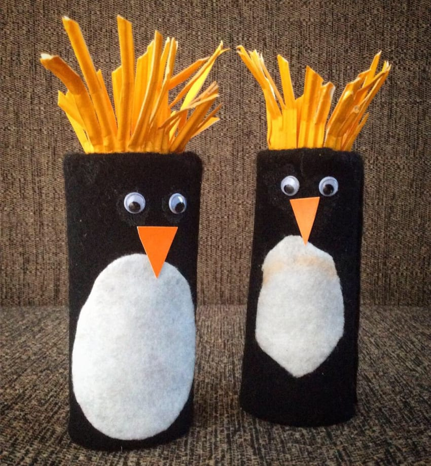 Paper roll penguins