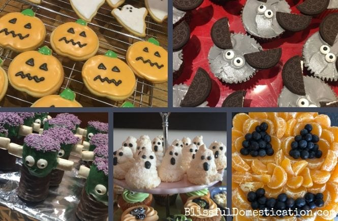 Halloween Party Food Ideas Collage