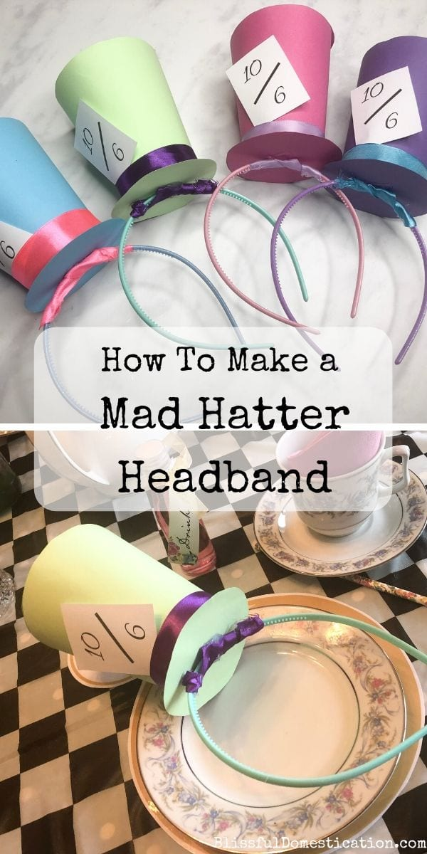 How to Make a Mad Hatter Headband pin image