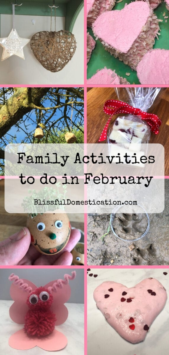 Pin for february family activities- a collage of photos from the post