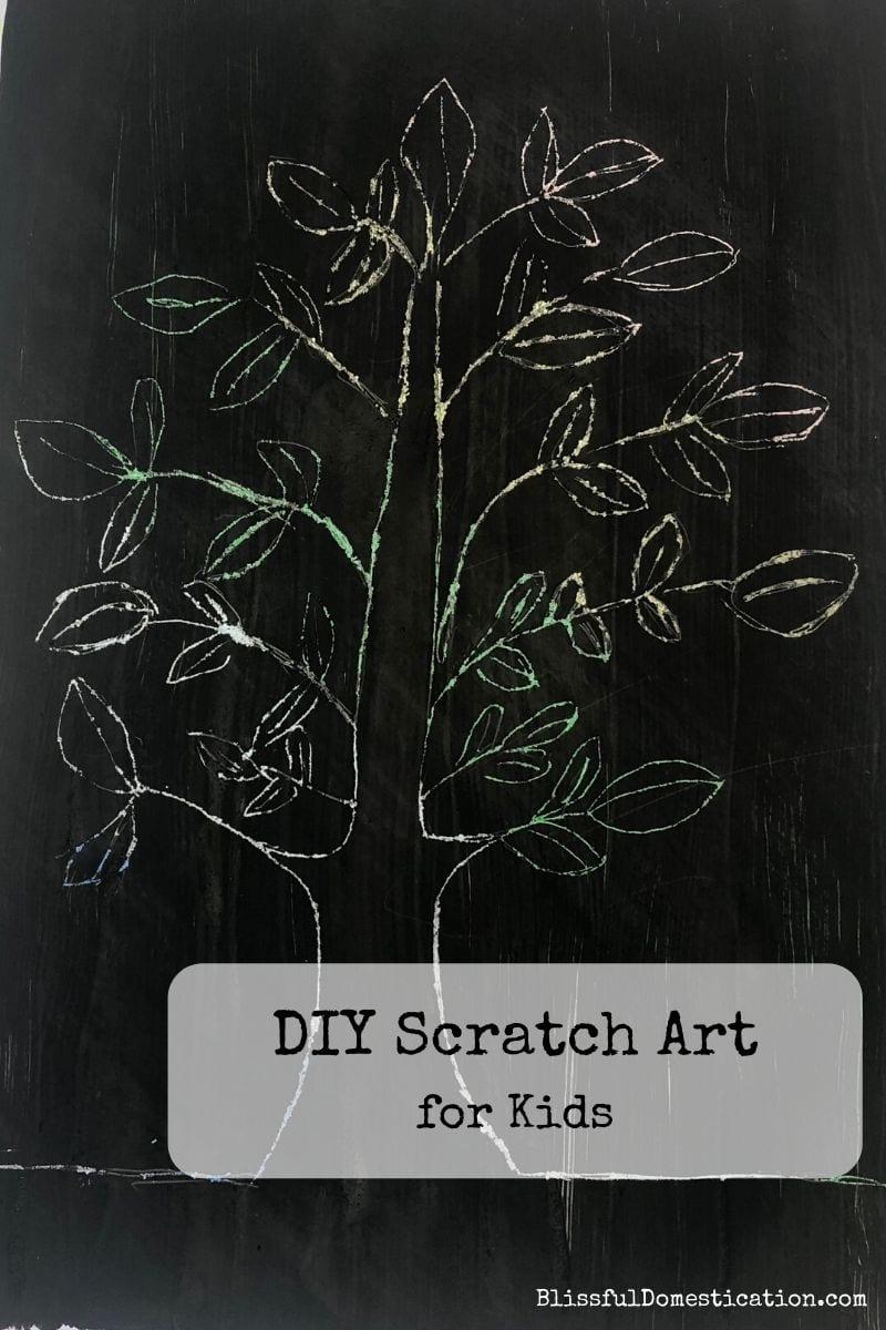 DIY Scratch Art for kids Pin