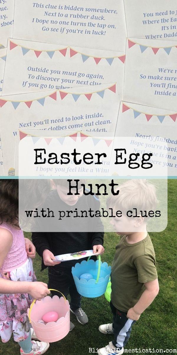 Easter egg hunt pin