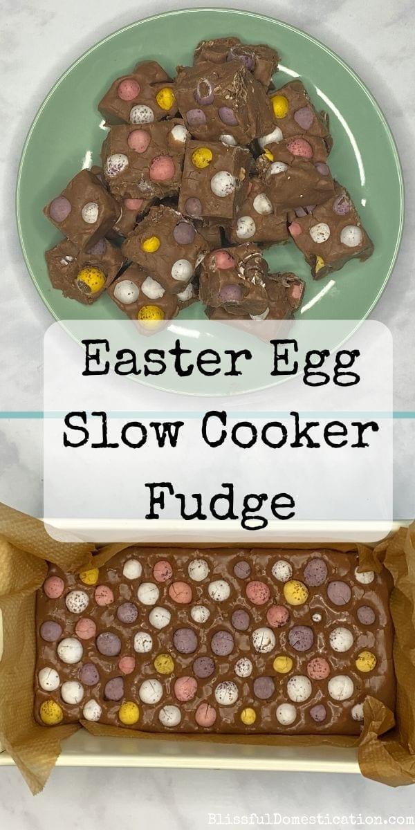 Easter egg slow cooker fudge pin