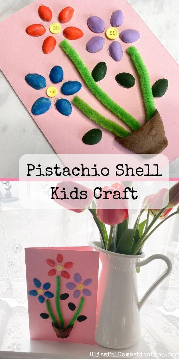 Pistachio shell kids craft pin